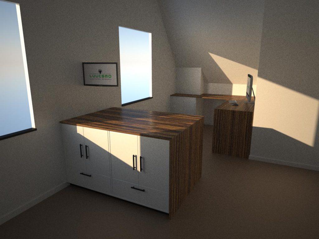 Tussen meubel rendering